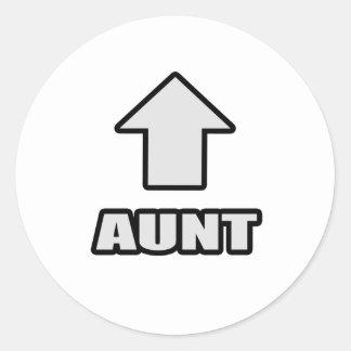 Arrow Aunt Round Stickers