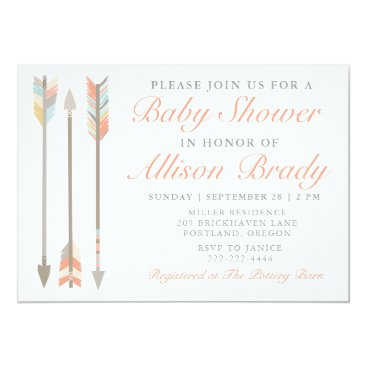 Aztec Themed Arrow Baby Shower Invitation