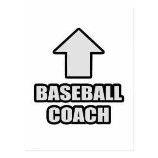 Arrow Baseball Coach Postcard
