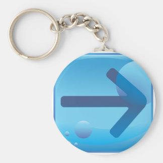 Arrow Basic Round Button Keychain