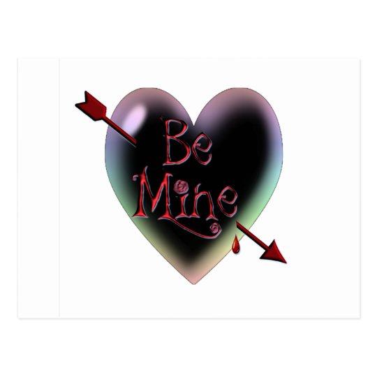 ARROW BE MINE HEART BUBBLE by SHARON SHARPE Postcard
