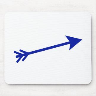 Arrow Blue Dk 15deg The MUSEUM Zazzle Gifts Mouse Pad