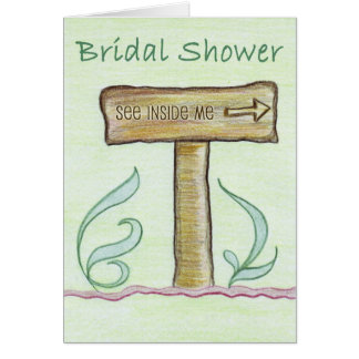 Arrow Board Wedding Invitation