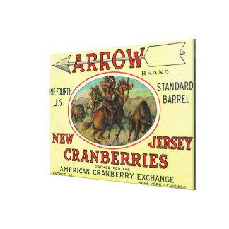 Arrow Brand Cranberry Label Stretched Canvas Prints