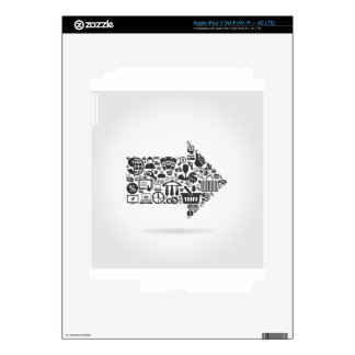 Arrow business decals for iPad 3