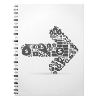 Arrow business notebook