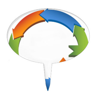 Arrow Business Process Cycle Chart Cake Topper