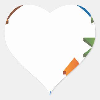 Arrow Business Process Cycle Chart Heart Sticker