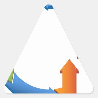 Arrow Business Process Cycle Chart Triangle Sticker