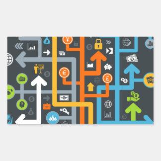 Arrow business rectangular sticker