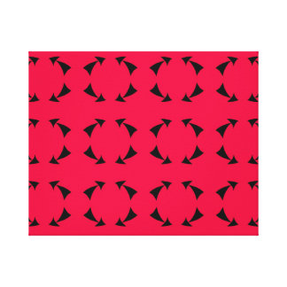 Arrow circle canvas print