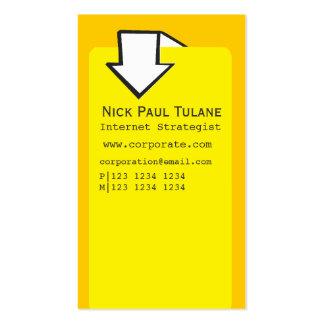 Arrow Corporate Business Template Designs Business Card Template