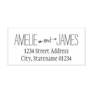 Arrow Design   Wedding Rubber Stamp