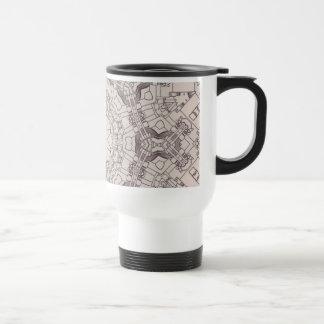 Arrow Diagrams Steampunk Mandala Coffee Mug