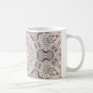 Arrow Diagrams Steampunk Mandala Coffee Mugs