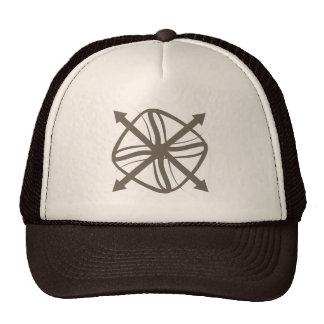 arrow direction trucker hat