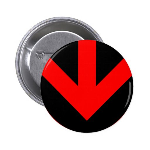 arrow down. color customizable. 2 inch round button