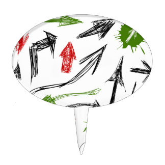 Arrow drawing cake topper