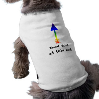 arrow, Food goes at this end! Pet T-shirt