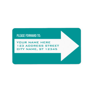 Arrow Forwarding Address Label