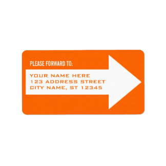Arrow Forwarding Address Label, Orange Label