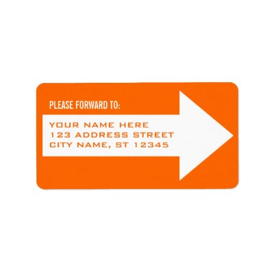 Arrow Forwarding Address Label  Zazzle