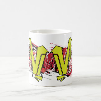 arrow graphic cup mug