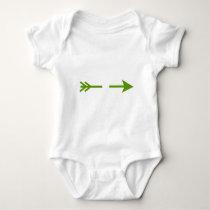 Arrow Green Broken The MUSEUM Zazzle Gifts Baby Bodysuit