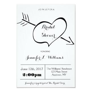 Arrow Heart Bridal Shower Invitations