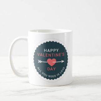 Arrow Heart Happy Valentine's Day Coffee Mug