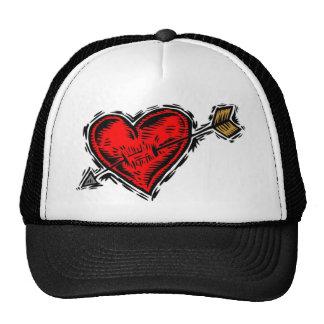 Arrow Heart Valentine Trucker Hat