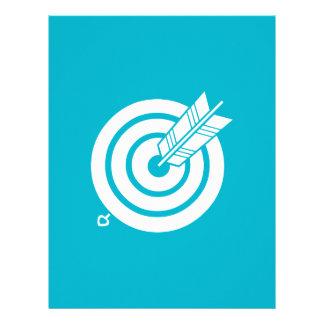 Arrow hit a round target letterhead