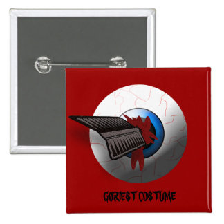 Arrow In The Eyeball Goriest Halloween Costume 2 Inch Square Button