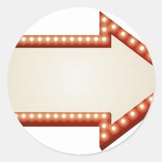 Arrow lights sign sticker