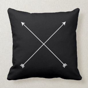 Arrow Minimal Black Modern Throw Pillow