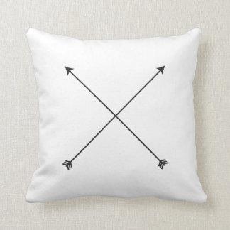 Arrow Modern Black and White Tribal Minimal Throw Pillow