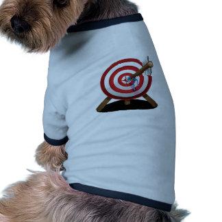 Arrow on target design pet t shirt