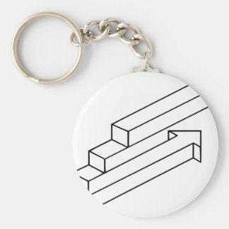 Arrow or Stairs Optical Illusion Key Chain