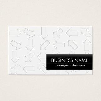Arrow Pattern Aerospace Engineer Business Card
