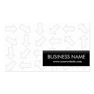 Arrow Pattern Chemical Engineer Business Card