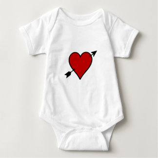 Arrow Pierced Heart Baby Bodysuit