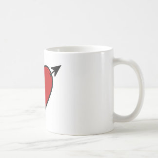 Arrow Pierced Heart Coffee Mug