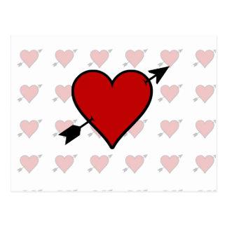 Arrow Pierced Heart Postcard