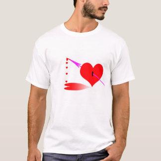 Arrow piercing heart with oozing heart-drops T-Shirt