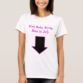 Arrow, Pink Baby Bump Due in July T-Shirt