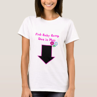 Arrow, Pink Baby Bump Due in May T-Shirt