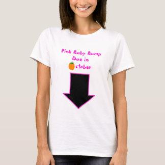 Arrow, Pink Baby Bump Due in October T-Shirt