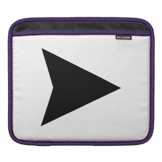Arrow Pointing iPad Sleeves
