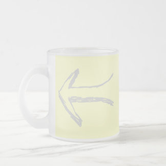Arrow Pointing Left Gray and Cream Mugs