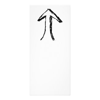 Arrow Pointing Up. Black and White. Rack Card